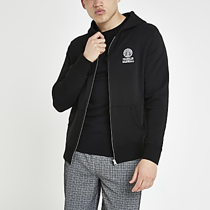 Franklin and Marshall black zip hoodie