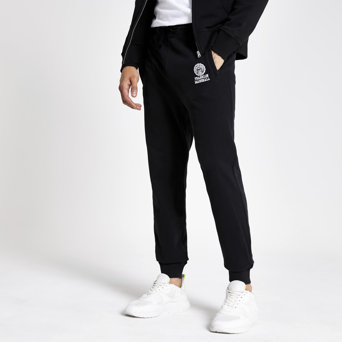 Franklin and Marshall black joggers