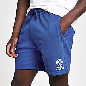 Franklin & Marshall – Blaue Jersey-Shorts