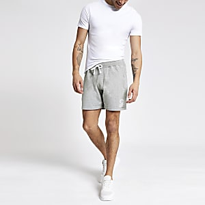 Franklin & Marshall – Graue Jersey-Shorts