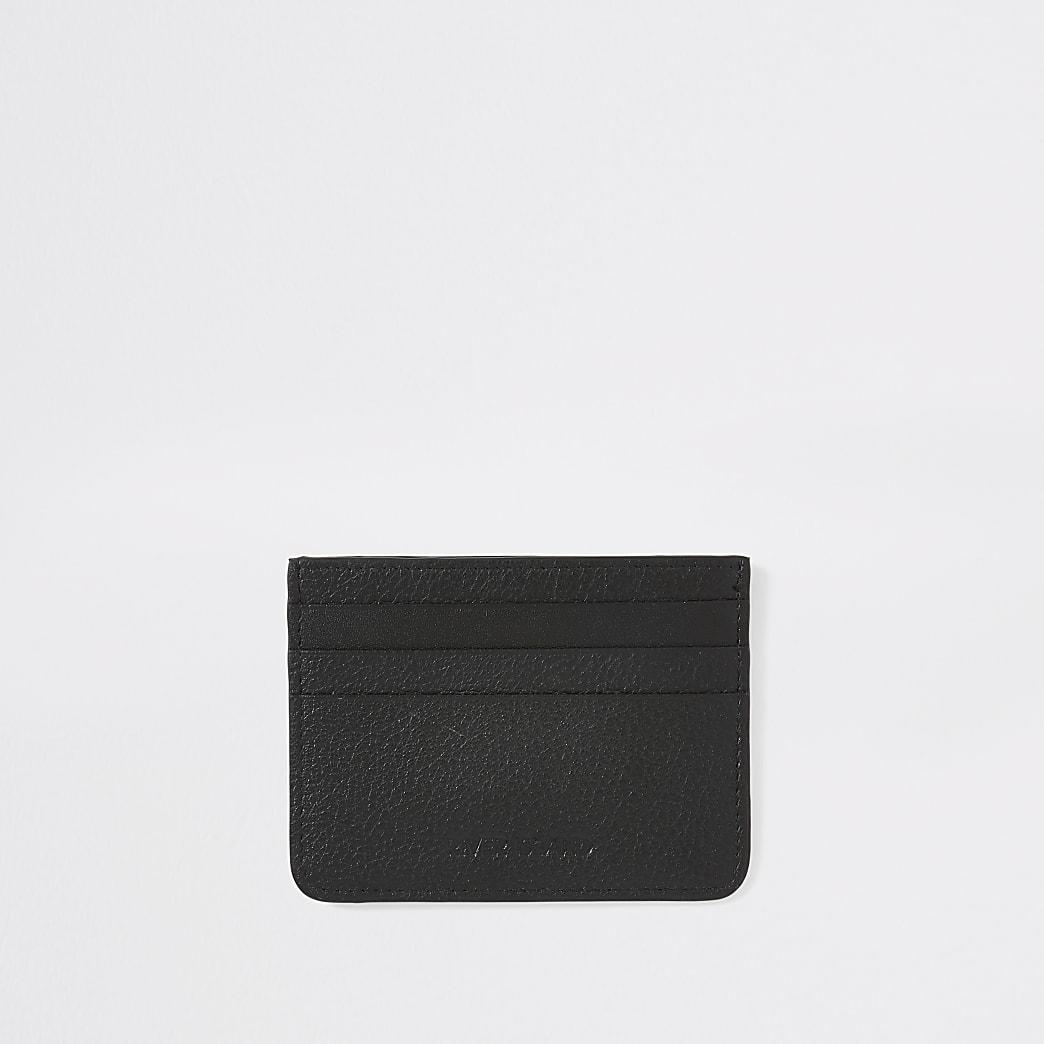 Black RI textured leather cardholder