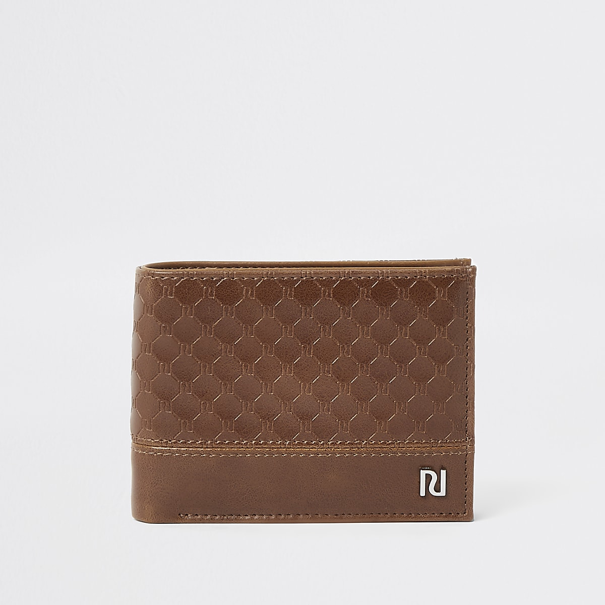 Light brown RI monogram wallet