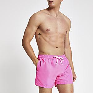 Neon pink Prolific short swim shorts