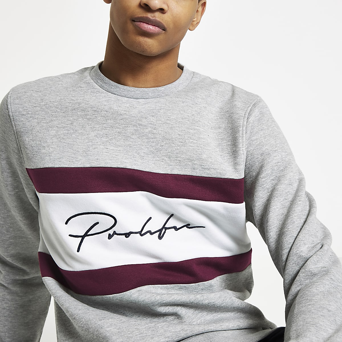 Grey Prolific slim fit sweatshirt