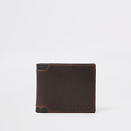 Brown corner wallet