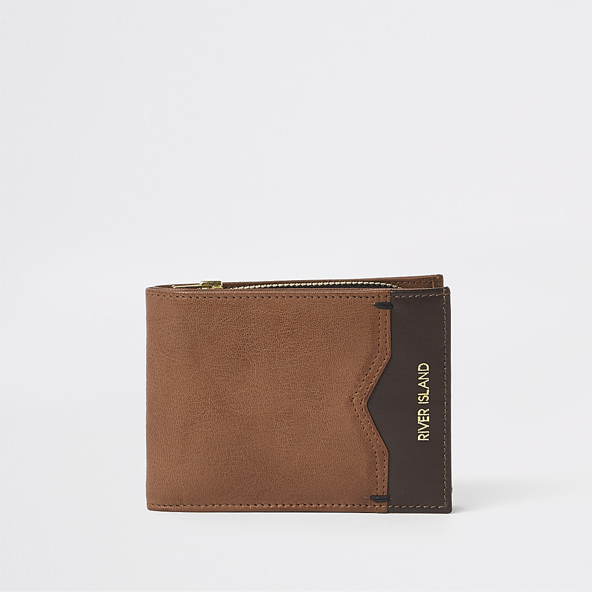 Light brown fold out wallet