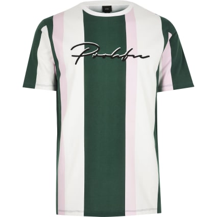White 'Prolific' stripe slim fit T-shirt