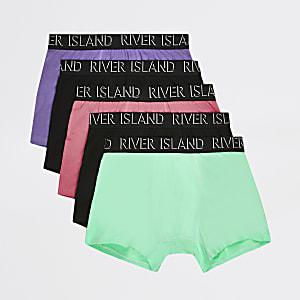 Multicoloured pastel trunks 5 pack