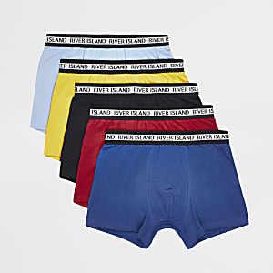Blue multicoloured trunk 5 pack