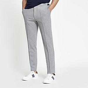 Pantalon de jogging skinny en maille piquée gris