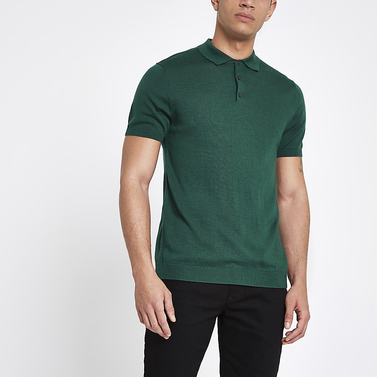 Selected Homme – Grünes Polohemd