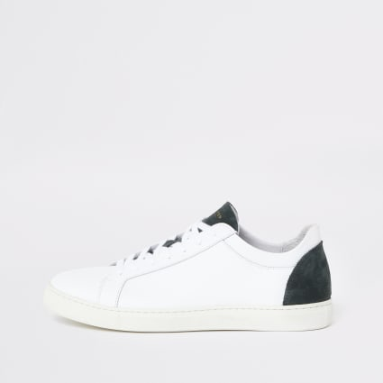Selected Homme white contrast trainers