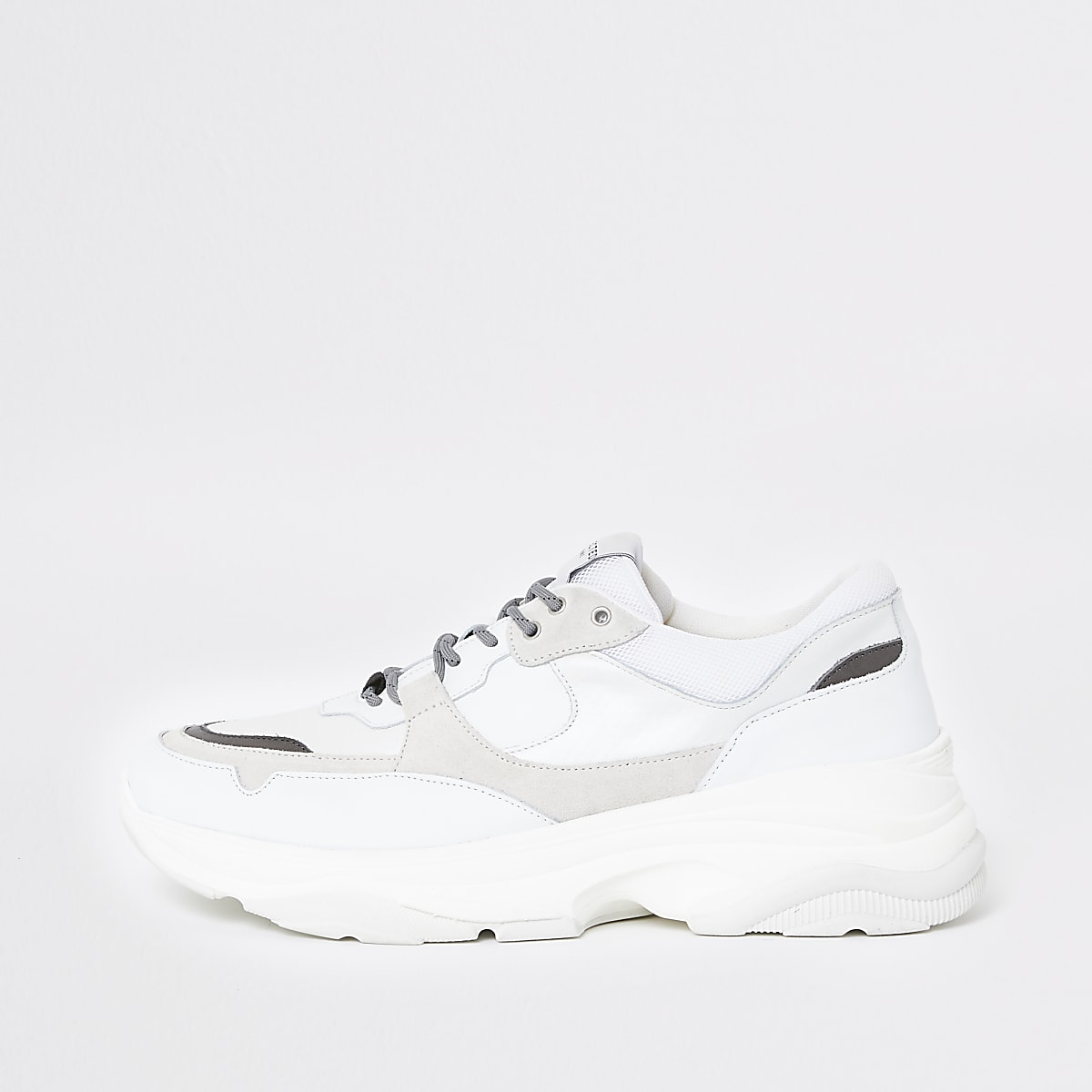 Selected Homme white chunky runner trainers