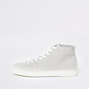 Selected Homme - Witte hoge sneakers