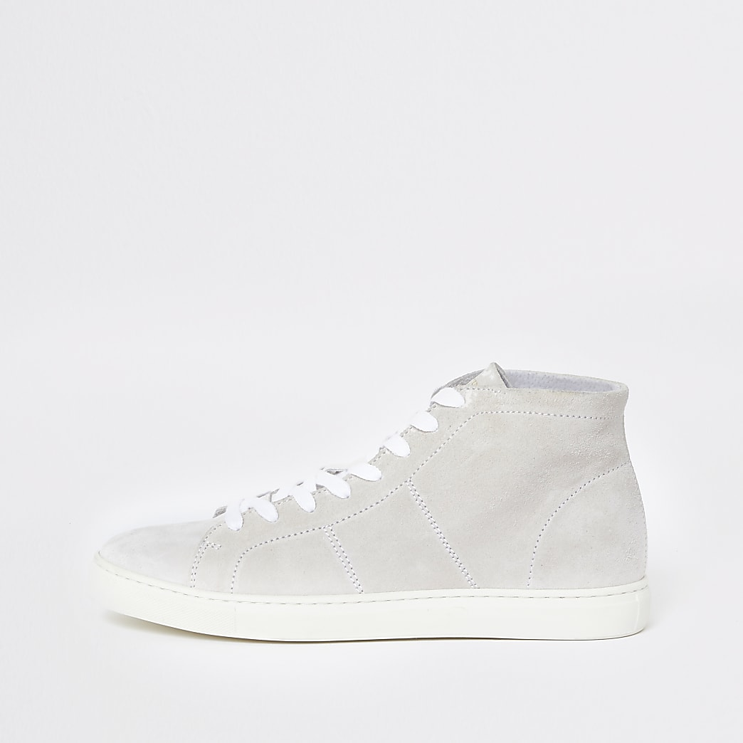 Selected Homme white hightop trainers
