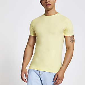 Yellow muscle fit T-shirt