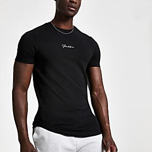Black 'Prolific' muscle fit T-shirt