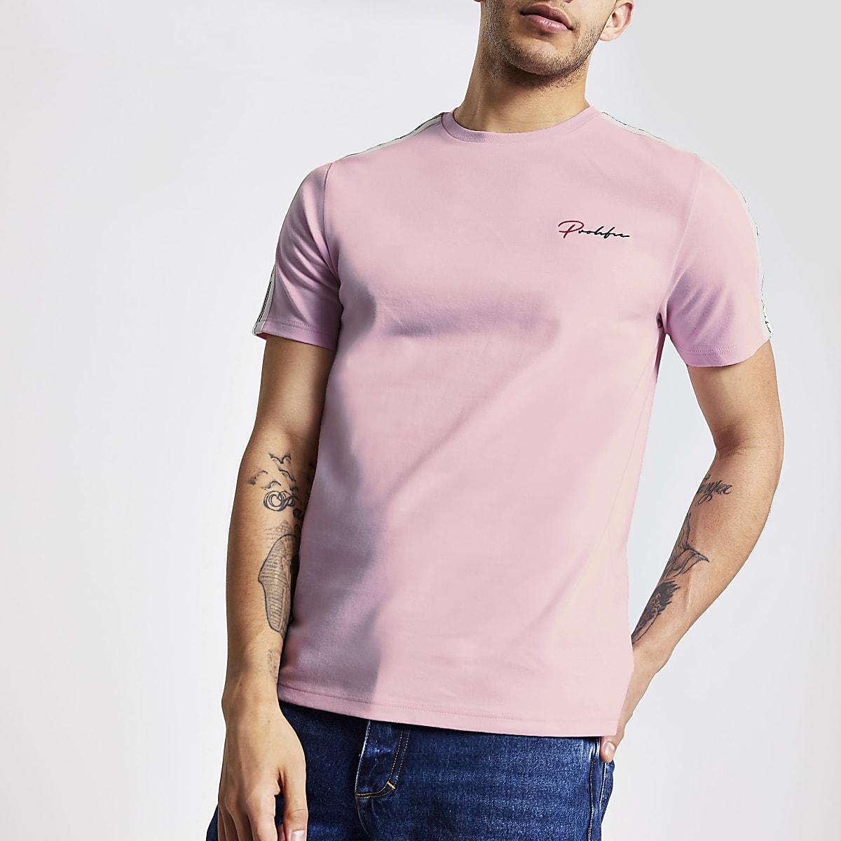 Pink 'Prolific' slim fit T-shirt