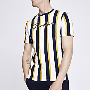 White stripe 'Prolific' slim fit T-shirt