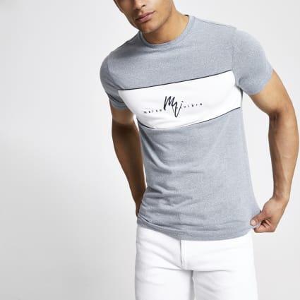 Blue Maison Riviera muscle fit T-shirt