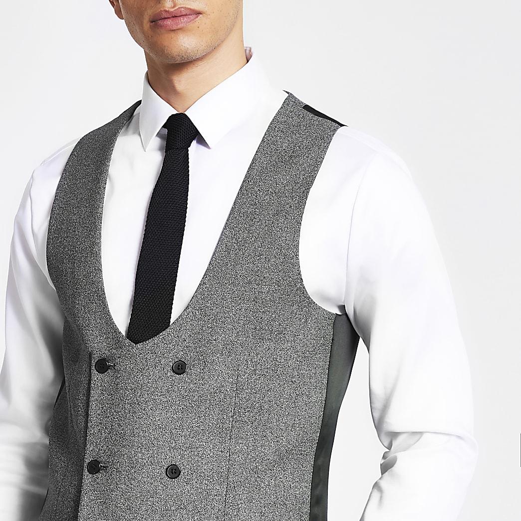 Dark grey suit waistcoat