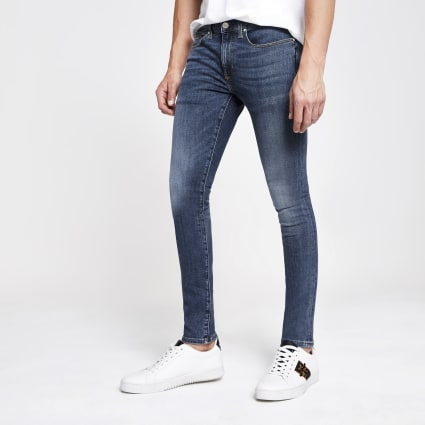 Mid blue Danny super skinny jeans