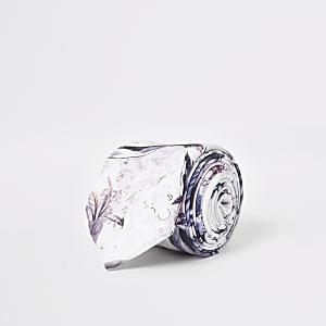 White floral tie