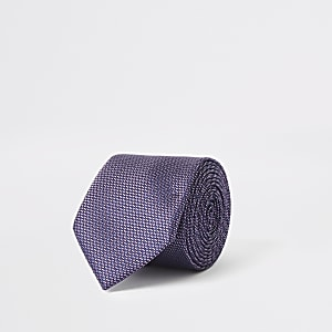 Purple textured tie
