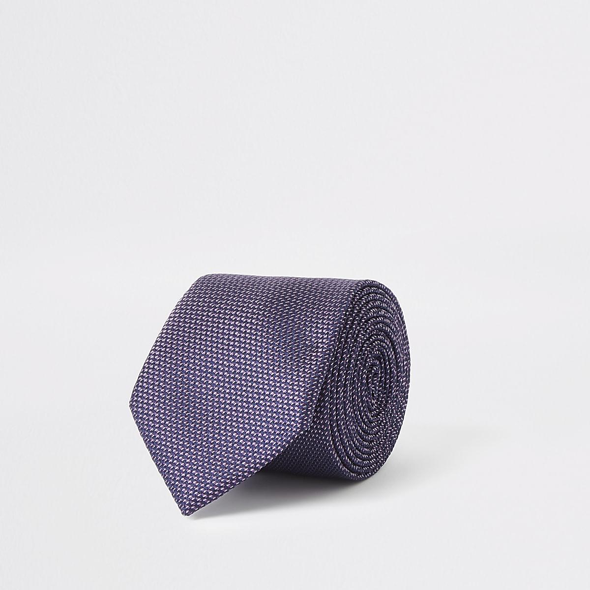 Purple textured tie
