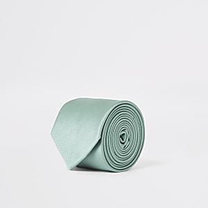 Groene stropdas met textuur