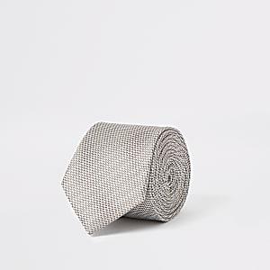 Strukturierte Krawatte in Ecru