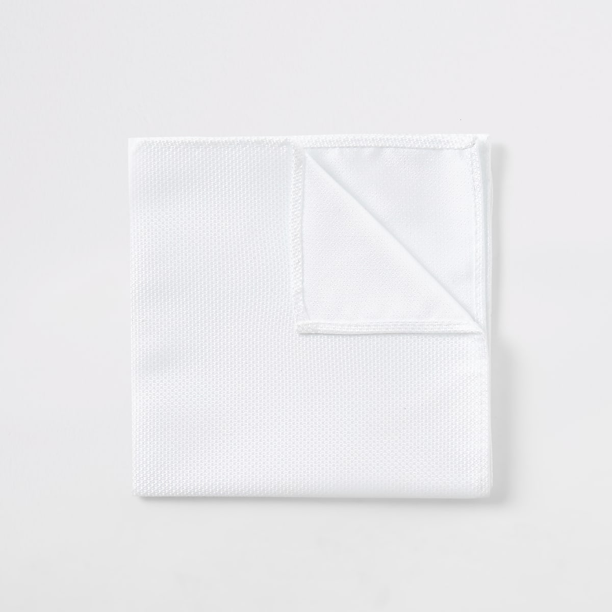 White textured handkerchief