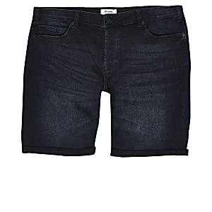 Only & Sons – Big & Tall – Short en denim bleu