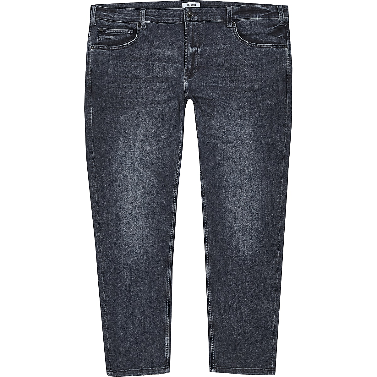 Only & Sons - Big and Tall - Blauwzwarte jeans