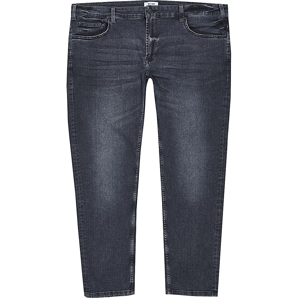 Only & Sons Big and Tall blue black jeans