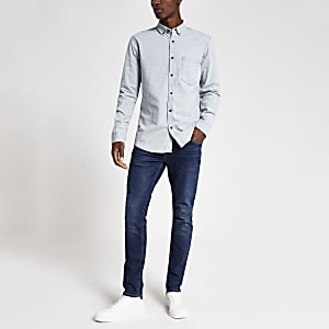 Only & Sons hellblaues Jeanshemd