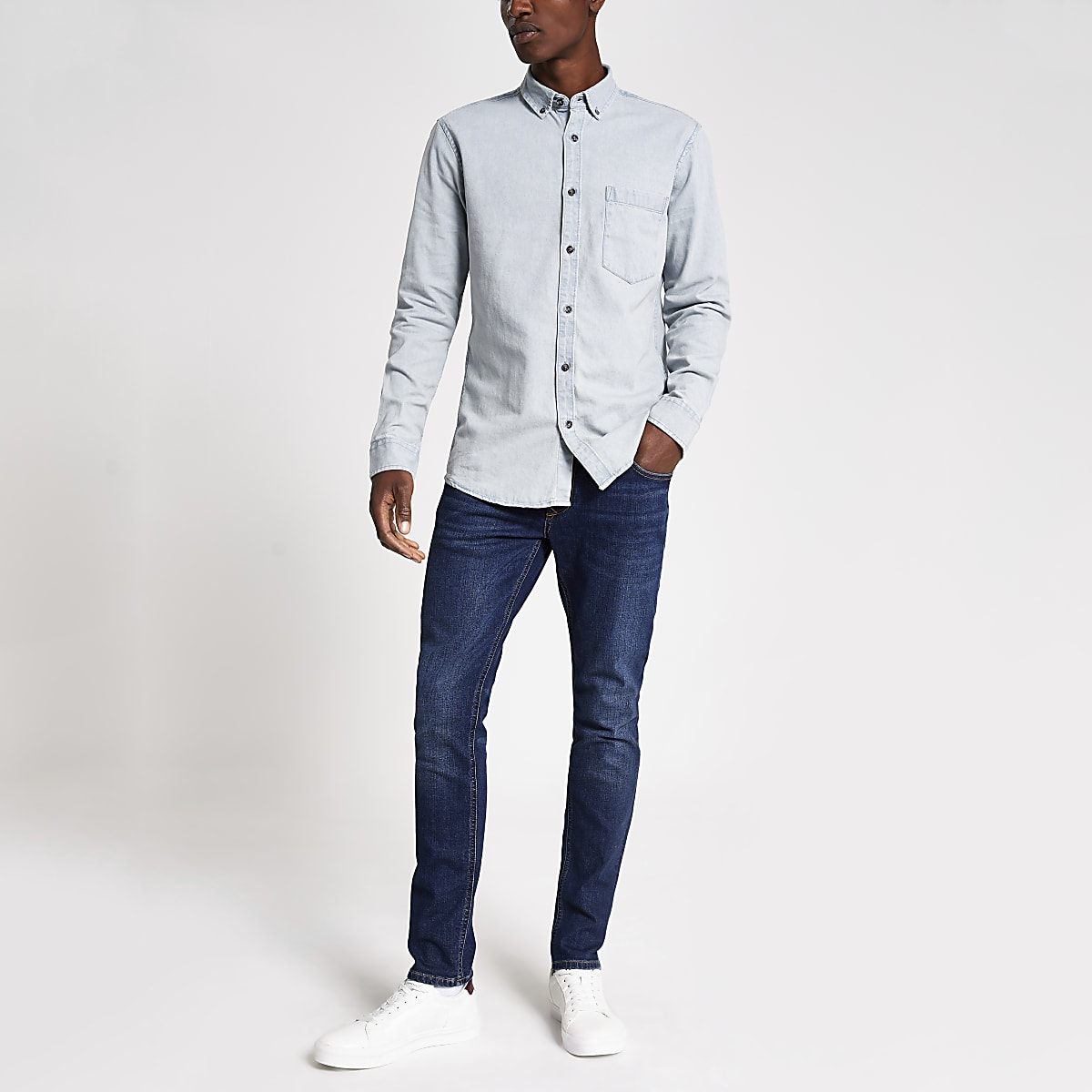 Only & Sons light blue denim shirt