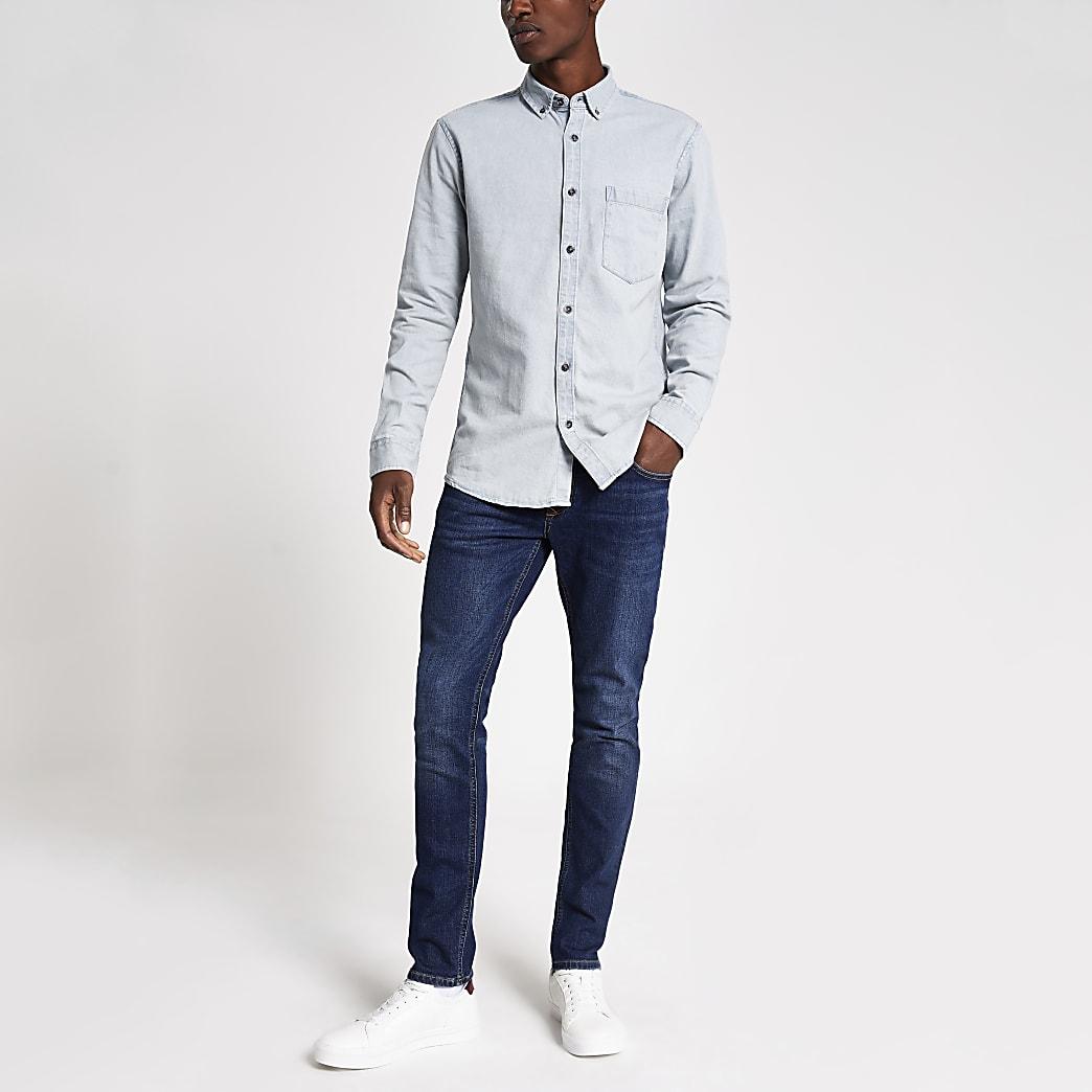 Only & Sons light blue denim shirt