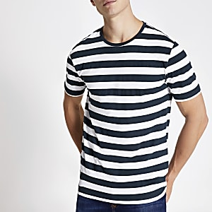 Only & Sons white stripe T-shirt