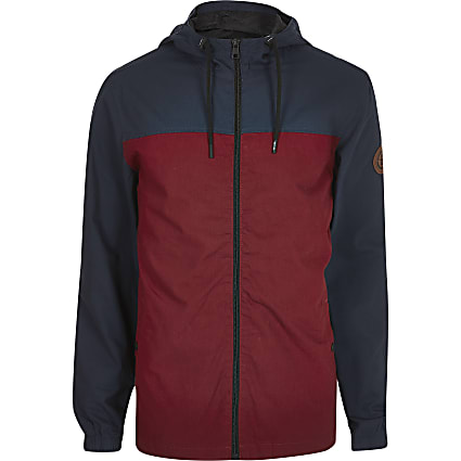 Only and Sons red colour blocked jacket