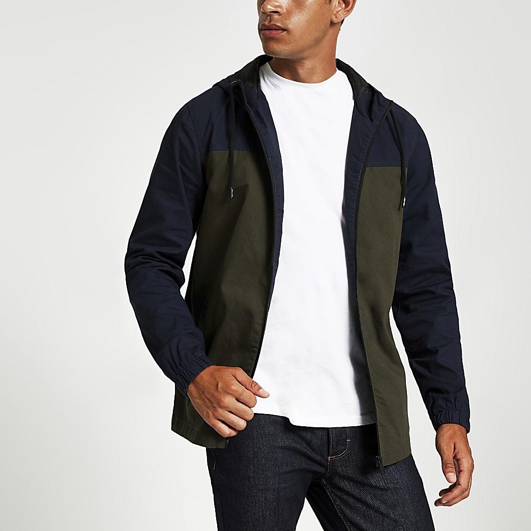 Only & Sons dark green lightweight jacket