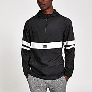 Only & Sons - Zwart jack met lichtgewicht en kleurvlakken