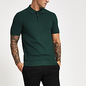 Selected Homme – Polo vert à manches courtes