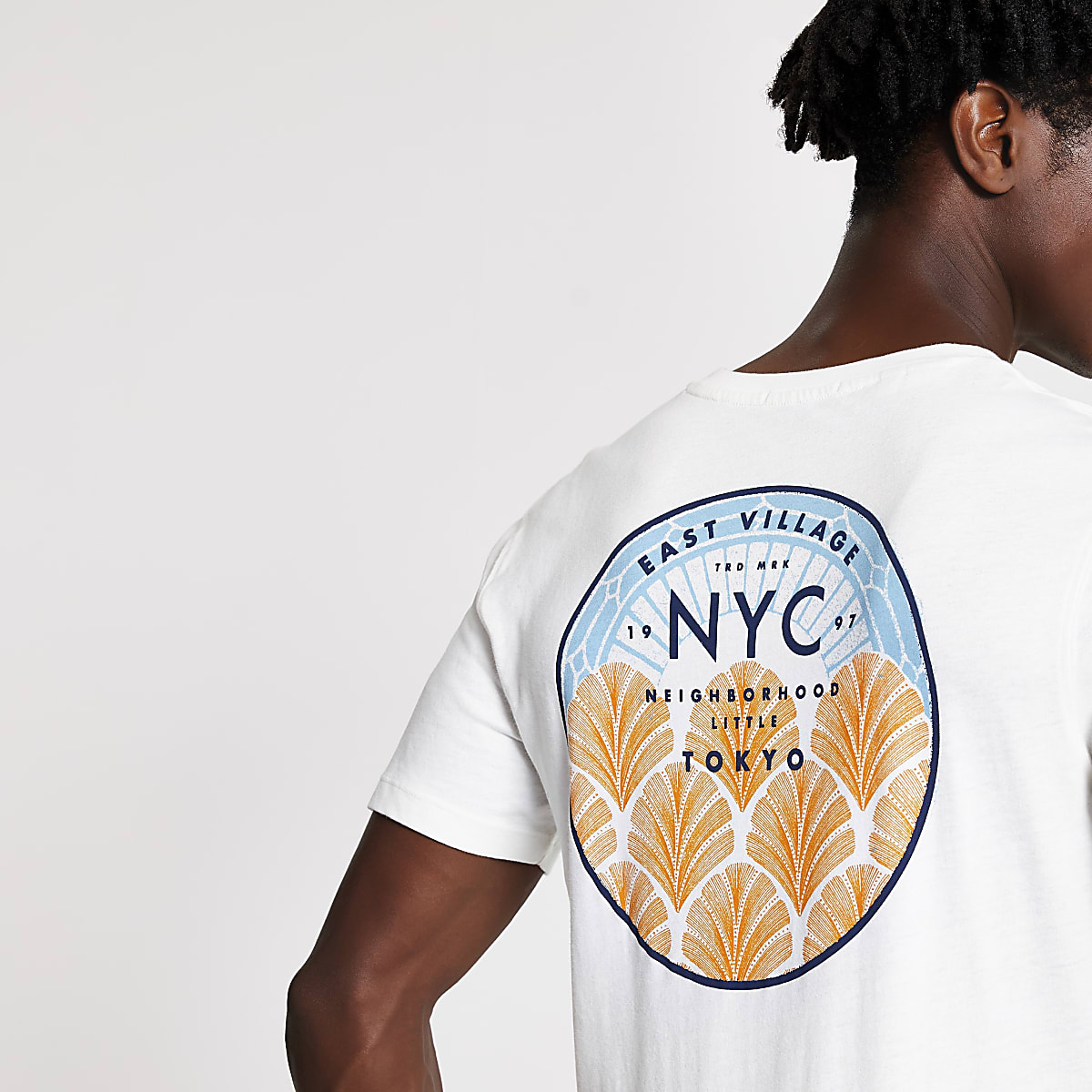 SelectedHomme - T-shirt blanc NYC