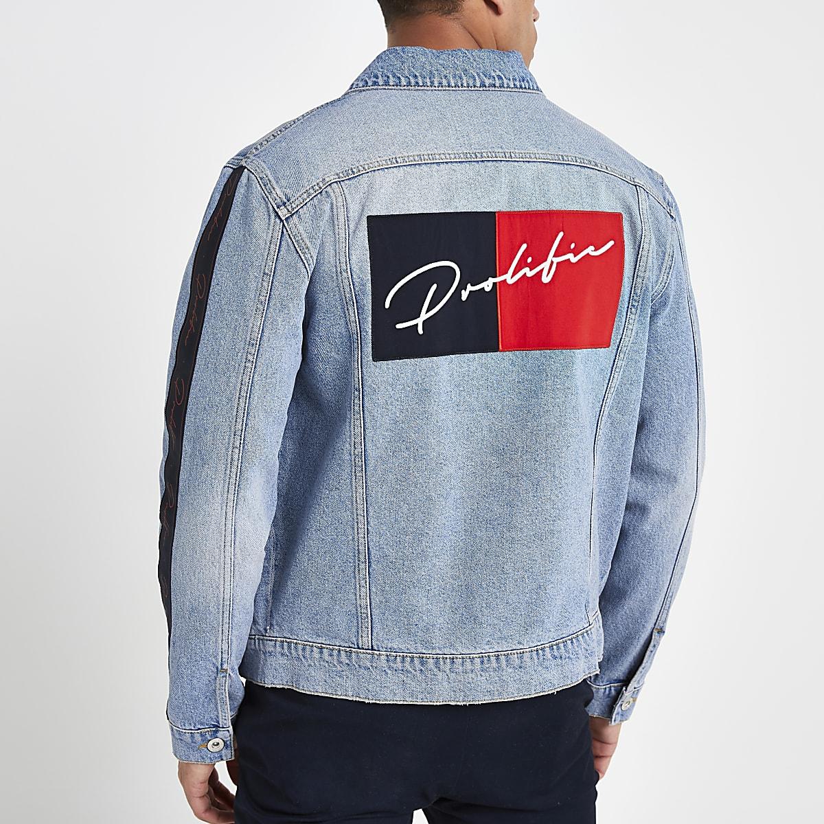Mid blue 'Prolific' classic fit denim jacket