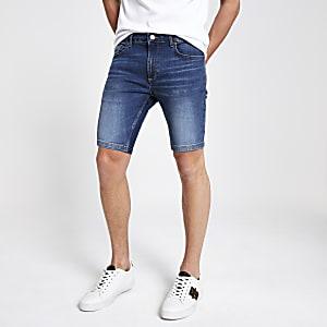 Sid – Blaue Skinny Jeansshorts