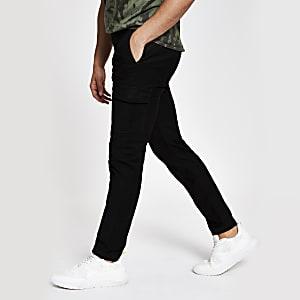 Black skinny cargo pants