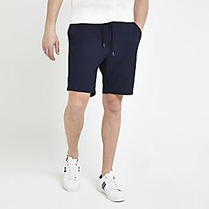 Lee – Short bleu foncé à cordon