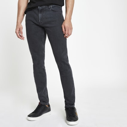 Lee grey wash Malone skinny fit jeans