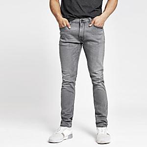 Lee – Jean slim fuselé gris